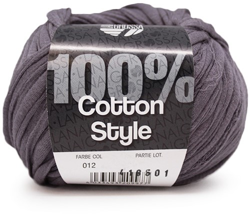 Lana Grossa Cotton Style 12 Dark Grey