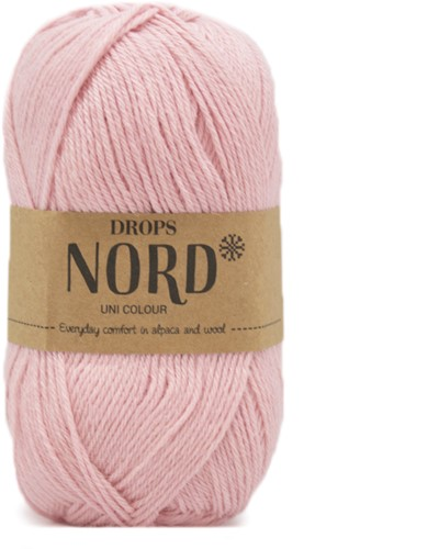 Drops Nord Uni Colour 12 Powder-pink
