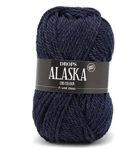 Drops Alaska Uni Colour 12 Navy-blue