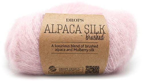 Drops Brushed Alpaca Silk Uni Colour 12 Powder-pink