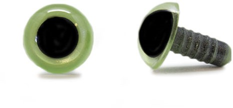 Safety Eyes Olive Green 12mm per pair