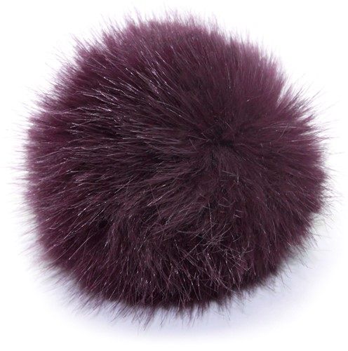 Rico Fake Fur Pompon Medium 13 Aubergine