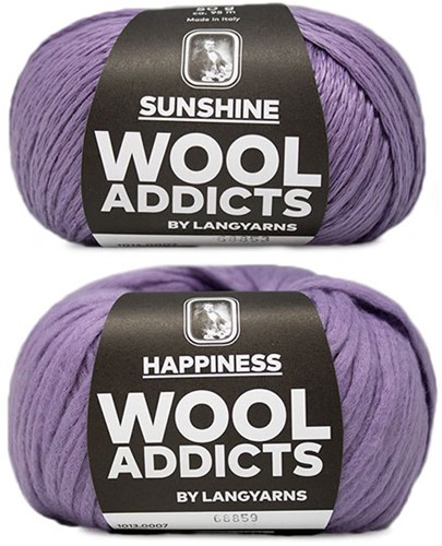Wooladdicts Empty Promise Bag Knitting Kit 2 Lilac