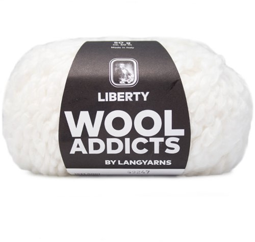Wooladdicts Fuzzy Feeling Sweater Knitting Kit 1 L White