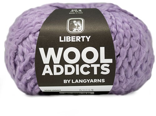 Wooladdicts Fuzzy Feeling Sweater Knitting Kit 2 XL Lilac