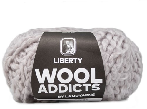 Wooladdicts Fuzzy Feeling Sweater Knitting Kit 3 L Silver