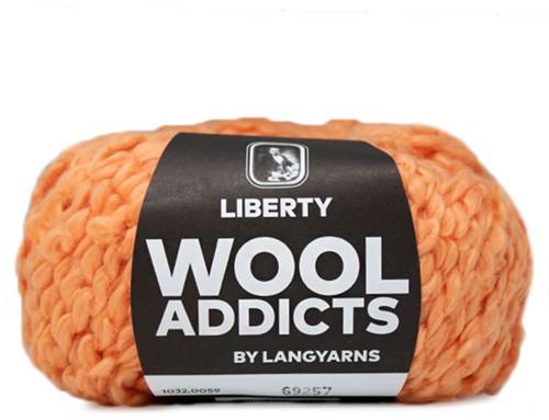 Wooladdicts Fuzzy Feeling Sweater Knitting Kit 7 L Orange