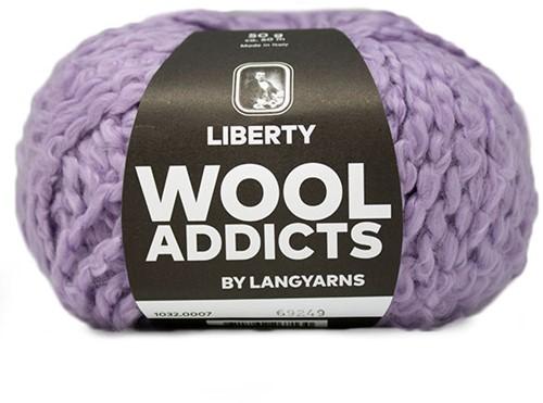 Wooladdicts Kind Knitter Triangle Shawl Knitting Kit 2 Lilac