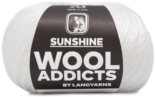 Wooladdicts Simply Shine Cardigan Knitting Kit 1 S/M White