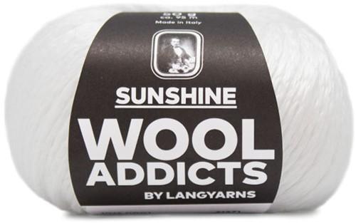 Wooladdicts Simply Shine Cardigan Knitting Kit 1 L/XL White