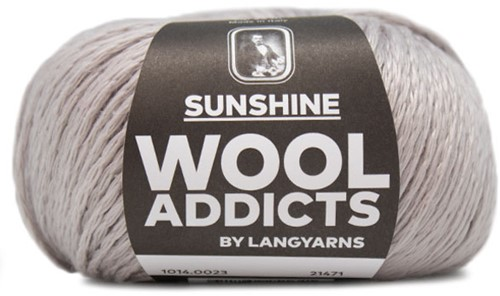 Wooladdicts Simply Shine Cardigan Knitting Kit 3 S/M Silver