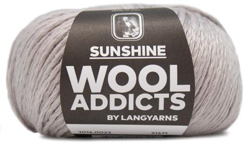 Wooladdicts Simply Shine Cardigan Knitting Kit 3 L/XL Silver