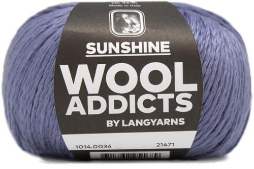 Wooladdicts Simply Shine Cardigan Knitting Kit 4 L/XL Jeans