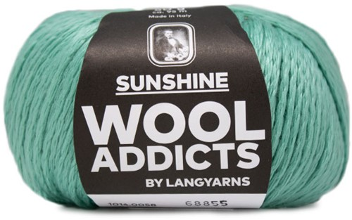 Wooladdicts Simply Shine Cardigan Knitting Kit 6 S/M Mint