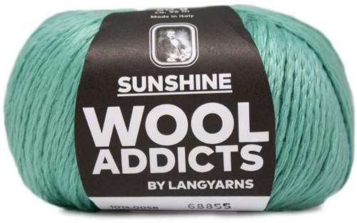 Wooladdicts Simply Shine Cardigan Knitting Kit 6 L/XL Mint