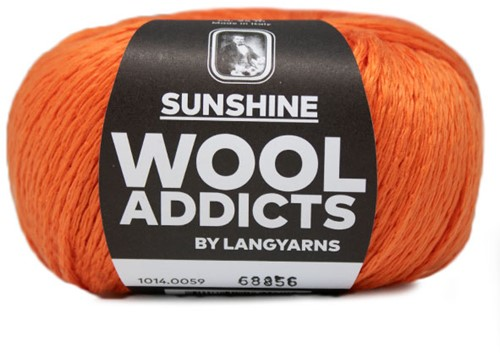 Wooladdicts Simply Shine Cardigan Knitting Kit 7 L/XL Orange