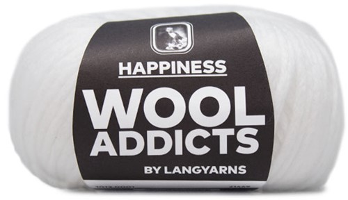 Wooladdicts Happy Habit Cardigan Knitting Kit 1 M White