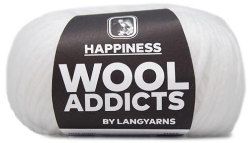 Wooladdicts Happy Habit Cardigan Knitting Kit 1 S White