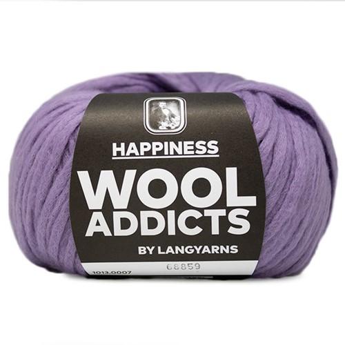 Wooladdicts Happy Habit Cardigan Knitting Kit 2 XL Lilac