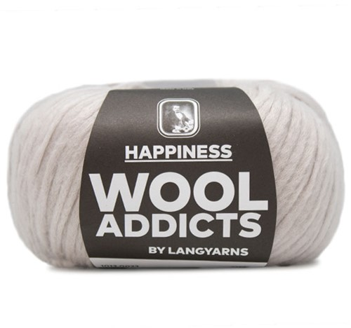 Wooladdicts Happy Habit Cardigan Knitting Kit 3 L Silver