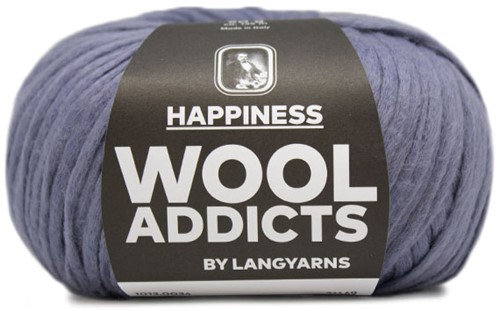 Wooladdicts Happy Habit Cardigan Knitting Kit 4 XL Jeans