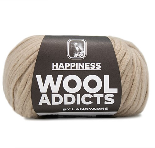 Wooladdicts Happy Habit Cardigan Knitting Kit 5 M Camel