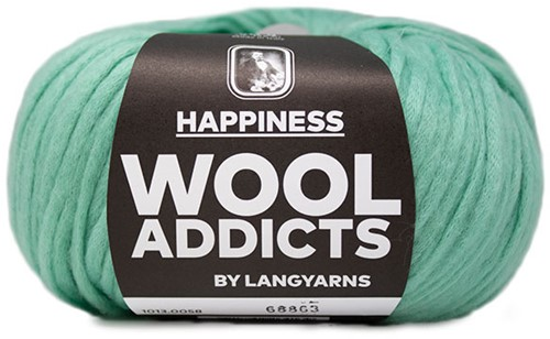 Wooladdicts Happy Habit Cardigan Knitting Kit 6 M Mint
