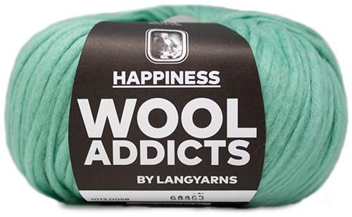 Wooladdicts Happy Habit Cardigan Knitting Kit 6 L Mint