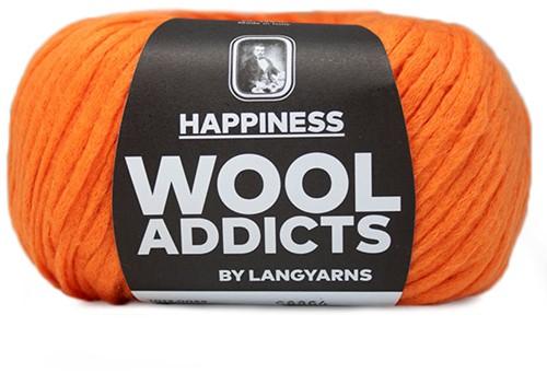 Wooladdicts Happy Habit Cardigan Knitting Kit 7 L Orange