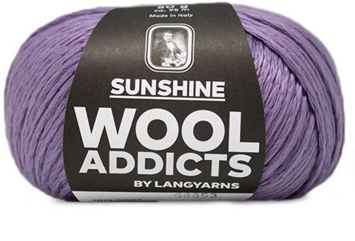 Wooladdicts Peach Puff Cardigan Knitting Kit 2 Lilac
