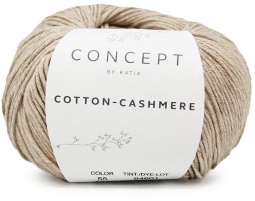 Cotton-Cashmere Top Knitting Kit 1 46/48 Camel