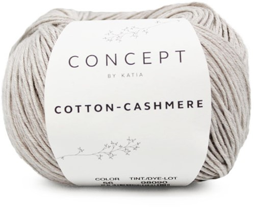 Cotton-Cashmere Top Knitting Kit 2 46/48 Stone Grey