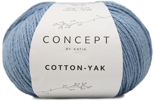 Cotton Yak Girls Sweater Knitting Kit 1 10 years Light Blue
