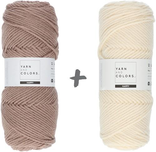 Dream Roll Cushion 4.0 Crochet Kit 13 Cigar & Cream