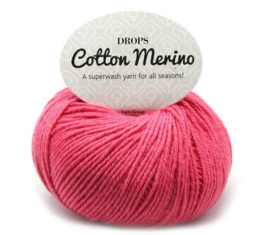 Drops Cotton Merino Uni Colour 13 Coral