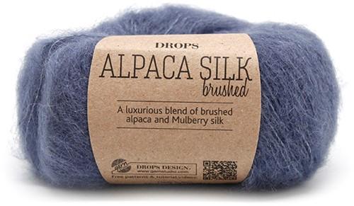 Drops Brushed Alpaca Silk Uni Colour 13 Denim-blue