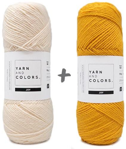 Reversible Baby Dream Blanket 3.0 Crochet Kit 2 Mustard Cot Blanket