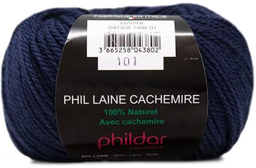 Phildar Phil Laine Cachemire 1446 Marine