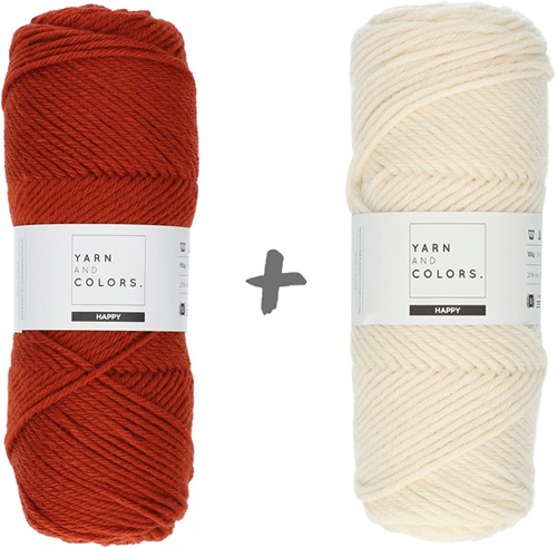 Dream Roll Cushion 4.0 Crochet Kit 14 Chestnut & Cream