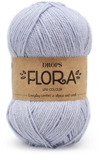 Drops Flora Uni Colour 14 Ice Blue