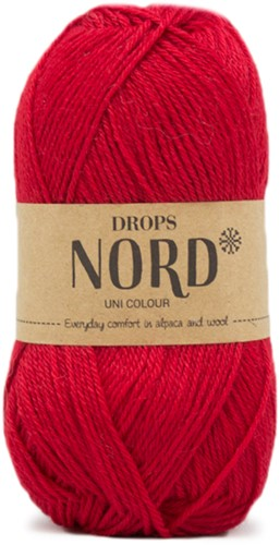 Drops Nord Uni Colour 14 Red