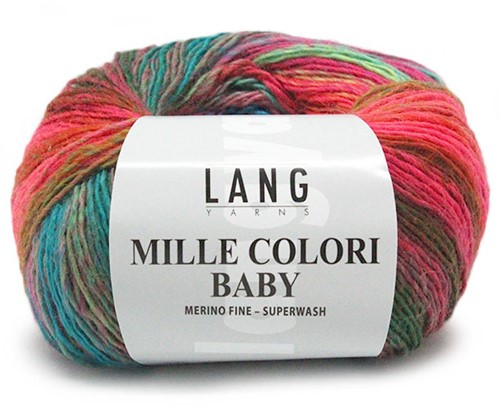 Lang Yarns Mille Colori Baby 152 Red/Green
