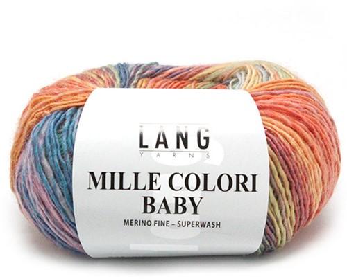 Lang Yarns Mille Colori Baby 153 Pastel Salmon/Mint