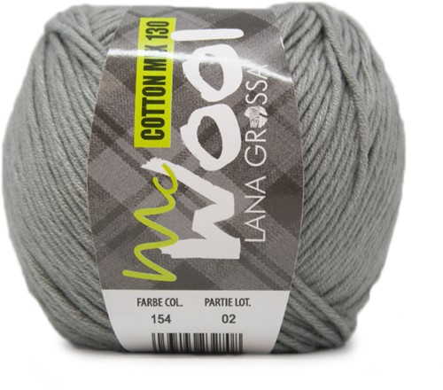Lana Grossa Cotton Mix 130 154 Green Gray