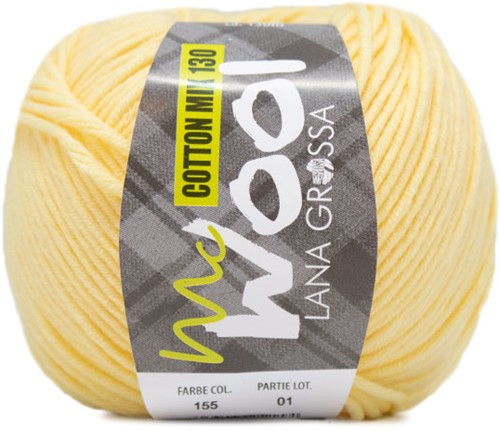 Lana Grossa Cotton Mix 130 155 Subtle Yellow