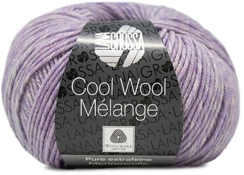 Lana Grossa Cool Wool Melange 156 Purple Mottled
