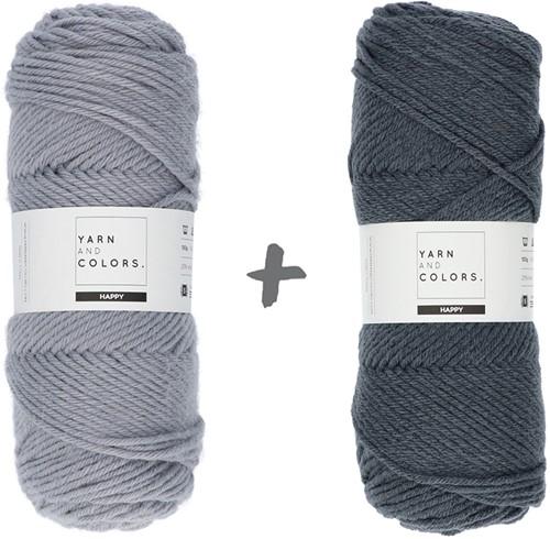 Dream Blanket 4.0 KAL Knitting Kit 15 Shark Grey & Graphite