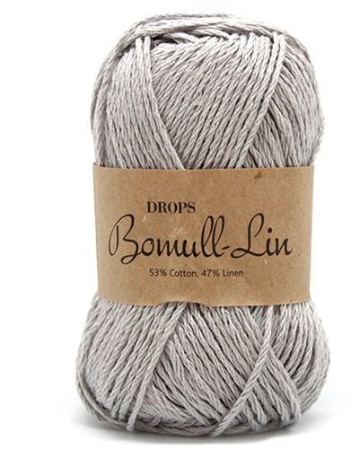 Drops Bomull-Lin Uni Colour 15 Light-grey