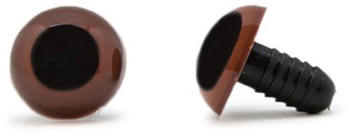 Safety Eyes Brown 15mm per pair