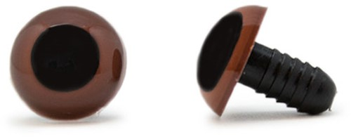 Safety Eyes Brown 12mm per pair